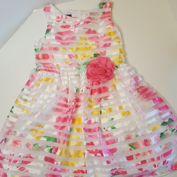 TODDLER GIRLS ADORABLE RAINBOW DRESS BLUEBERI BONNIE JEAN YOUNGLAND CARTERS SZ5